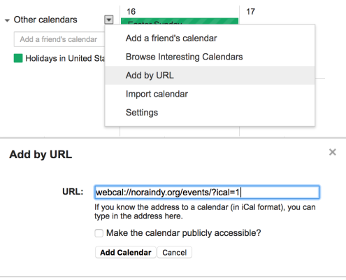 Add to Google Calendar